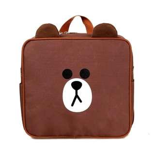 Tas sekolah anak motif karakter LINE BROWN beruang lucu Murah - ATS006