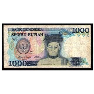 Indonesia 1987 1000 rupiah F