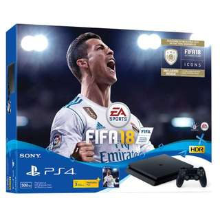 PS4 Slim 500GB With FIFA 18 Bundle