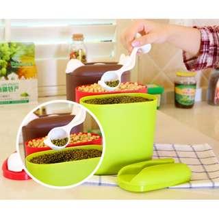 Storage container tempat penyimpanan kopi teh (dapat sendok) - HHM280