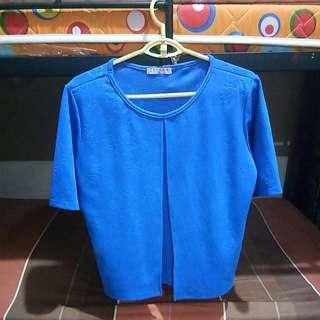 Blue Formal Top