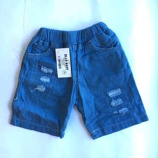 Boys Ripped Short Jeans