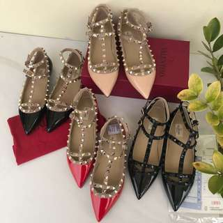 READY VALENTINO FLATS STRAP MIRROR QUALITY 1:1 ORI AUTHENTIC