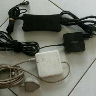 Adaptor laptop Asus, Lenovo dan apple
