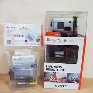 (NEW)SONY Action Cam HDR-AS200VR + Underwater case