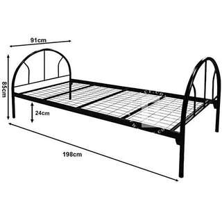 Single Metal Bed 🛏 Frame + Foam Mattress (9cm Thickness)