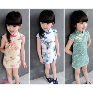 Chinese new year qi pao clothing clothes dress dress girl girls female tang zhuang