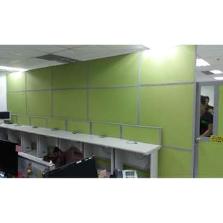 FLOOR TO CEILING OFFICE FABRIC PARTITION--KHOMI