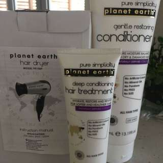 Brand new hairdryer&conditioning pack