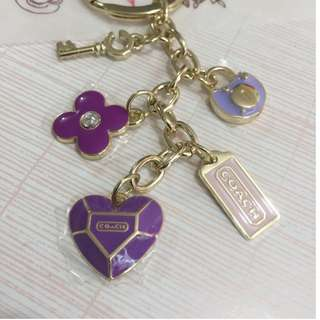 Coach purple key ring