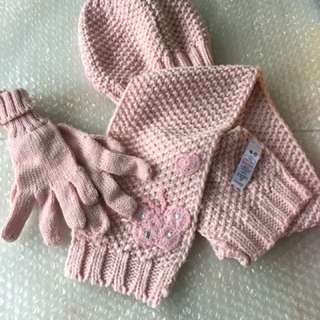 Winter Hat, Scarf and Gloves set