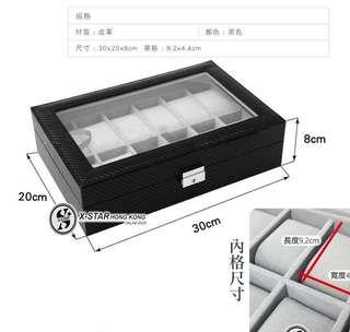1633590 碳纖維紋12位手錶盒