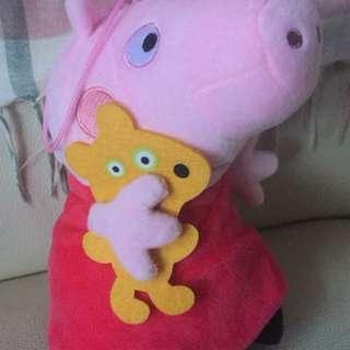 全新peppa pig 公仔吊飾