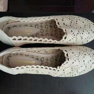 韓國編織鞋