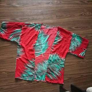 Atasan merah hawai