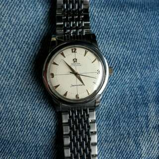 Authentic Omega Seamaster Silver Men Watch