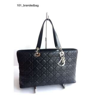 Christian Dior Lambskin Cannage shoulder Tote