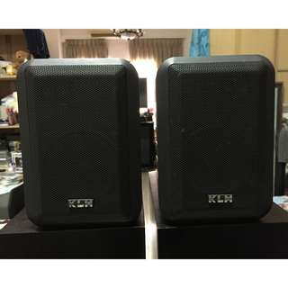 KLH Model 45 Indoor/outdoor 3-Ways Bookshelf Speakers, Made in U.S.A!