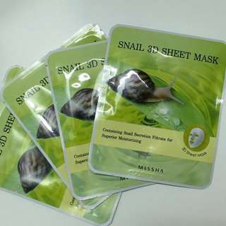 人気 Missha Snail 3D Sheet Mask