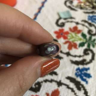 Purple Flower Glass Pandora Charm