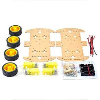 4 Wheel Robot Smart Car Chassis Kit