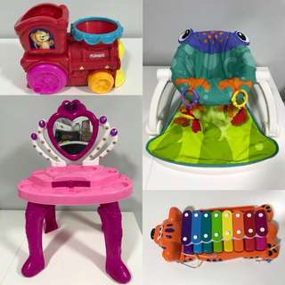 Baby toys, chair