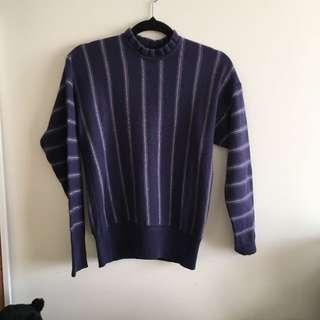 Vintage 100% wool purple jumper ❤️