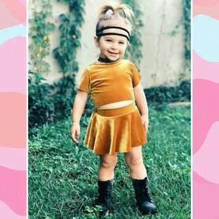 Newborn Baby Girl Round Neck Short Sleeves Top+Skirts 2pcs Set 🍀