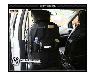 1633603 汽車黑色皮質椅背掛袋座椅置物袋