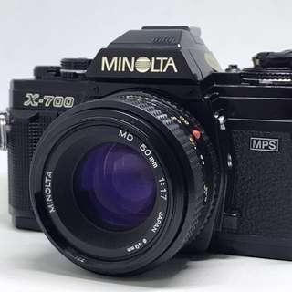 Minolta X700 Film SLR+50mm F1.7 prime lens