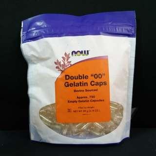 """Now Foods, 750 Double """"00"""" Empty Gelatin Caps"""