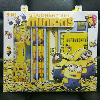 Minion 8 in 1 stationery set / goodie bag