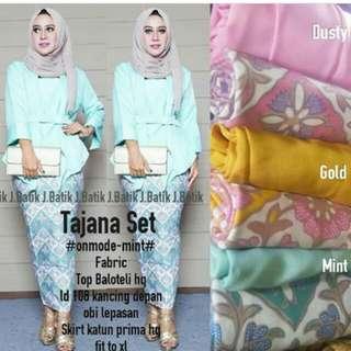 Baju set batik real pict