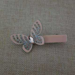 Butterfly hair clip with rhinestone
