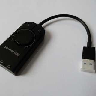 UGREEN USB External Stereo Sound Adapter
