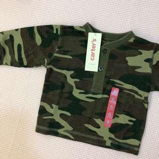 [6M] Carter's Camo Long Sleeve Top