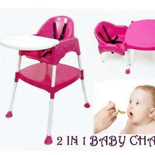 2 im 1 Baby High Chair study table
