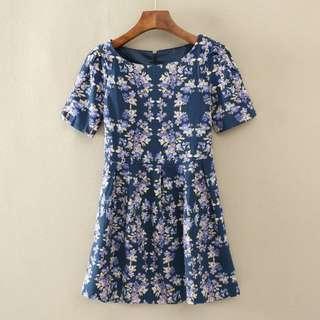 [INSTOCKS] Ladies Blue Floral Dress