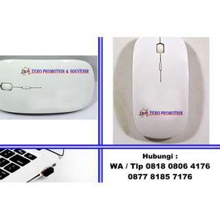 optical wireless mouse promosi Glossy White tipe MW03