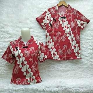 Blouse batik khusus red 504