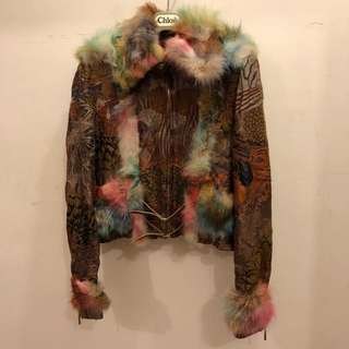 Invest In The Original Voyage vintage rabbit fur jacket