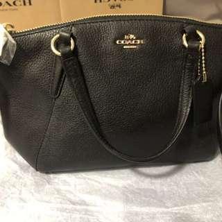 Coach 黑色斜背包手提包兩用包
