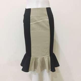 Rêve Black & Beige Mermaid Skirt