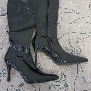Black PVC Boots (Costume - Worn Once)