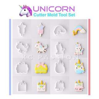 🦄 UNICORN CUTTER MOLD TOOL SET Cake Decorating Tool for Cookies • Fondant Cake & Cupcake • Bread Dough • Pastry • Sugar Craft • Jelly • Gum Paste • Polymer Clay Art Craft •