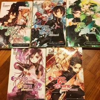 Sword Art Online novels 1-5