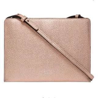 OROTON ROSE GOLD CROSSBODY BAG MINI ZIP