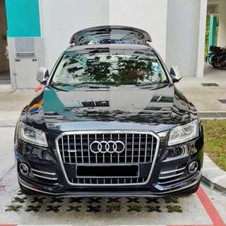 Installation Of Invisible Car Door Bumper Guard Protector Done On Audi Q5