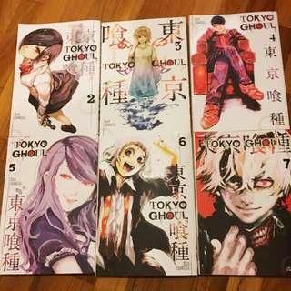 Tokyo Goul B&W Manga vol. 2-7
