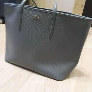Lacoste gray leather bag 灰色皮手袋
